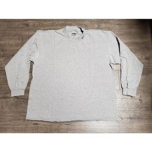 Gray Vintage Nike Embroidered Swoosh Mock Shirt